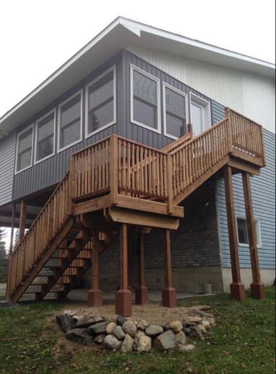 Home deck & stairs after
