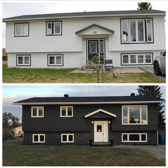 Home exterior before & after
